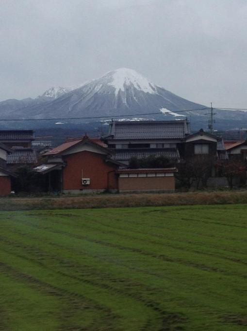 View of Daisen from the Yakumo Express